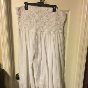 White tube top high/low dress 18/20
